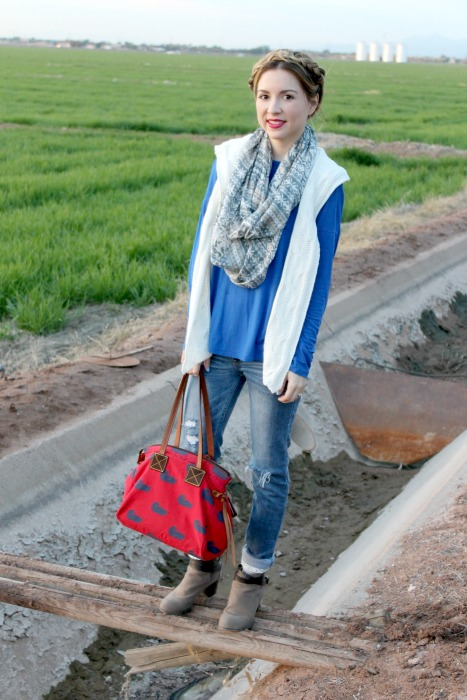 casual outfit, R. riveter, denim, dooney and Bourke