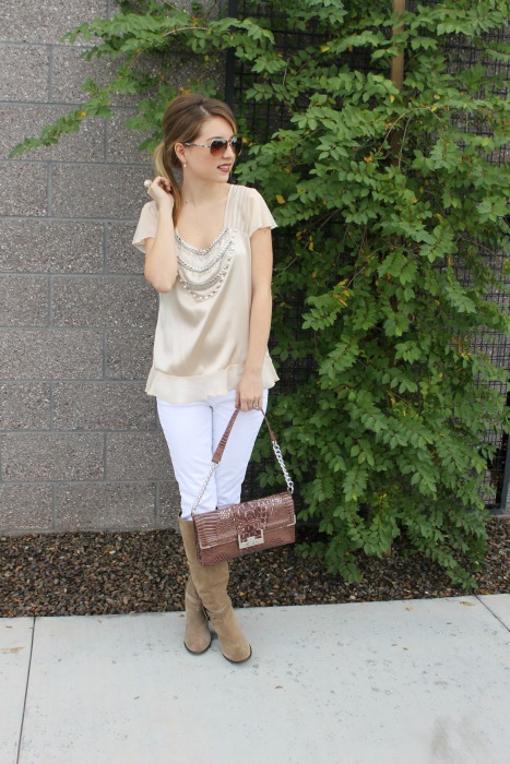 Winter Whites, Marc Fisher, LOFT, Express, Guess, Winter Outfit