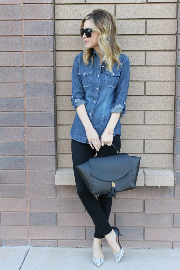 Denim top, Dressy, Casual, outfit