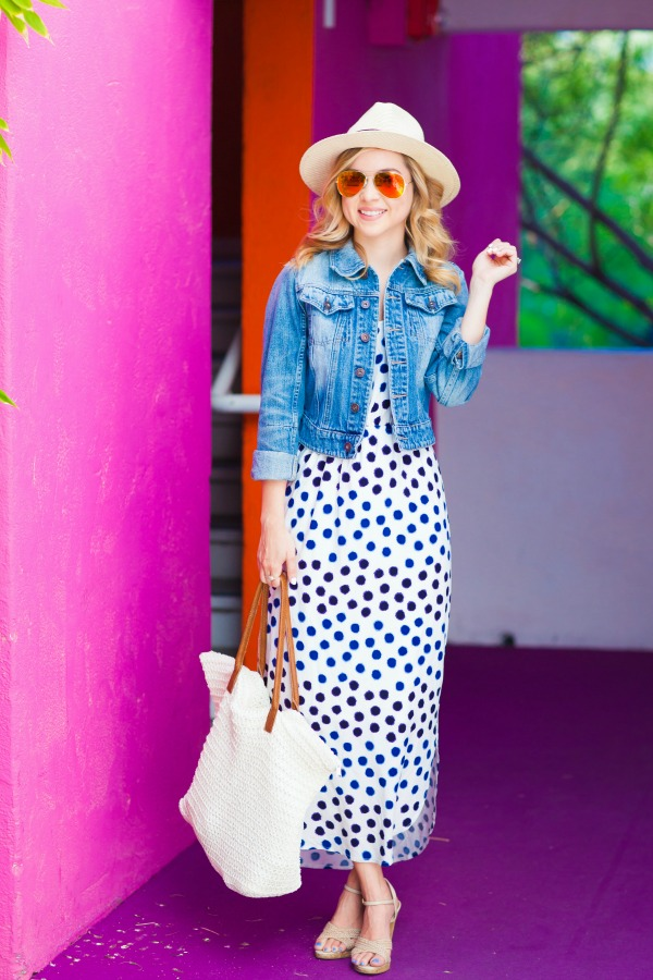 polka dots, spots, old navy, spring style, dress, simply sutter