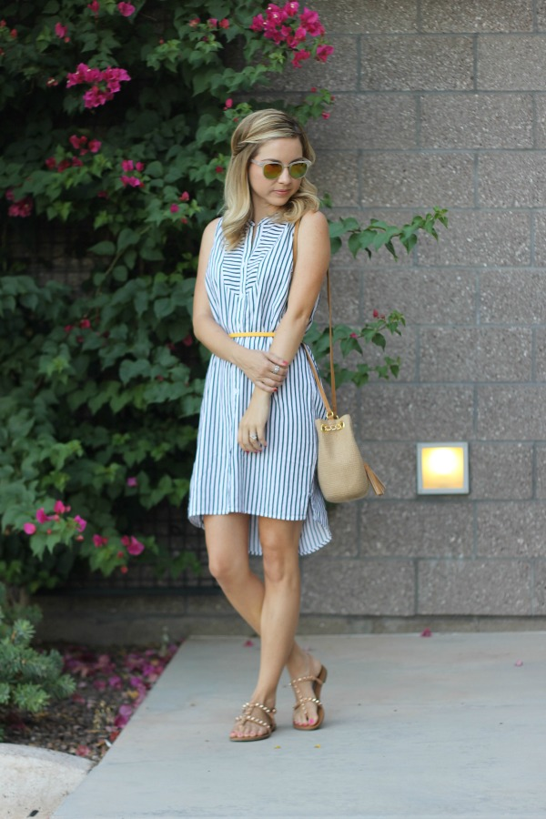 old navy, shirt dress, summer style, go to, stripe dress, Dsw