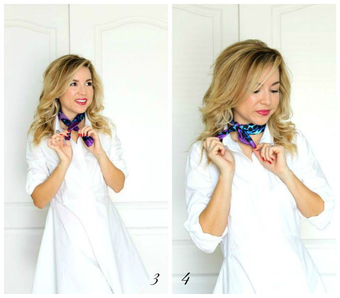 3 ways to use a silk scarf