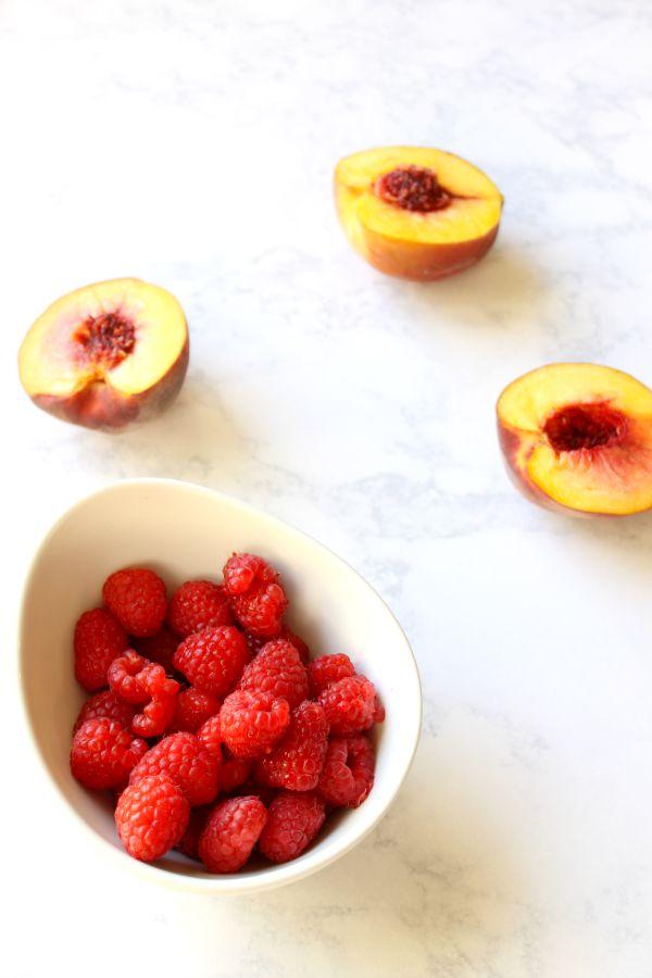 grilled peach melba, recipe, good housekeeping