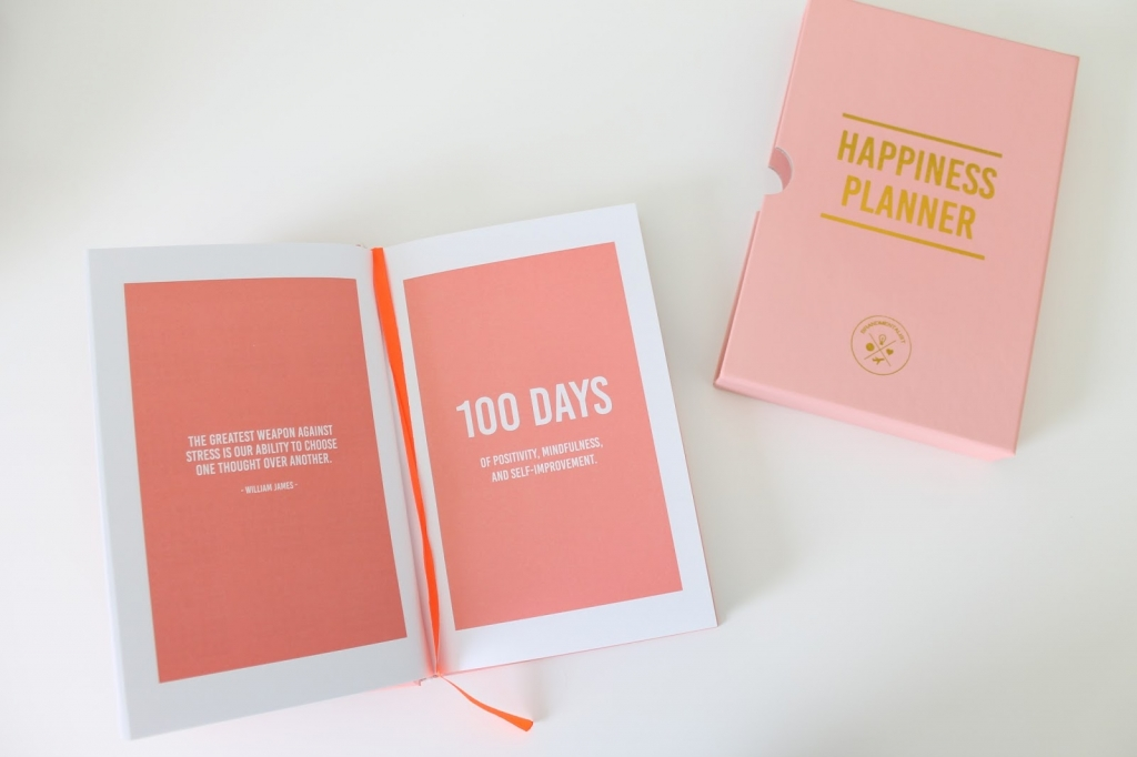 happiness planner , quote, organize