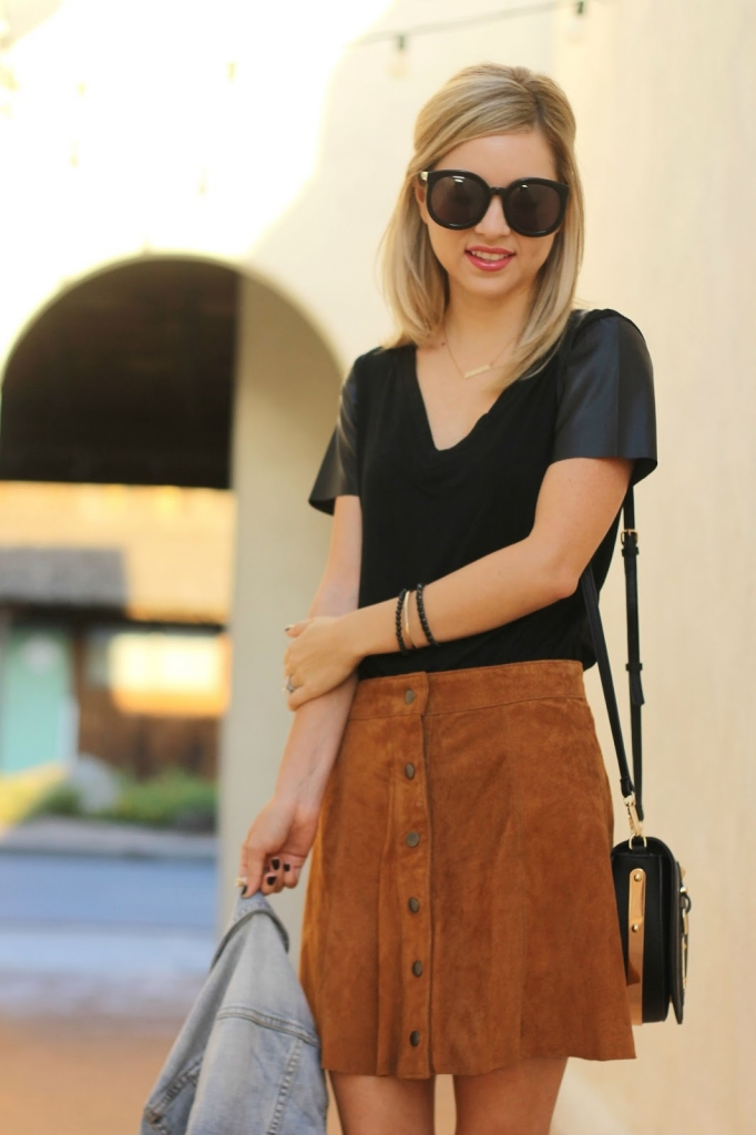 suede skirt, suede, forever21, fall fashion, fall outfit