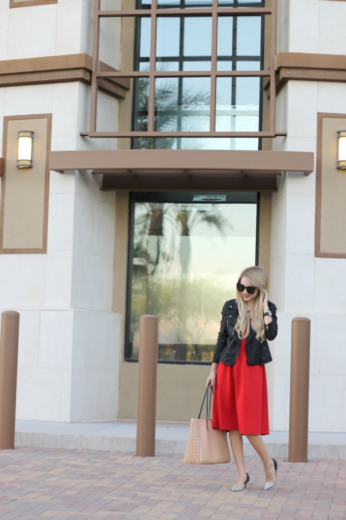 little red dress, LRD, Leather, Nordstrom, NSALE
