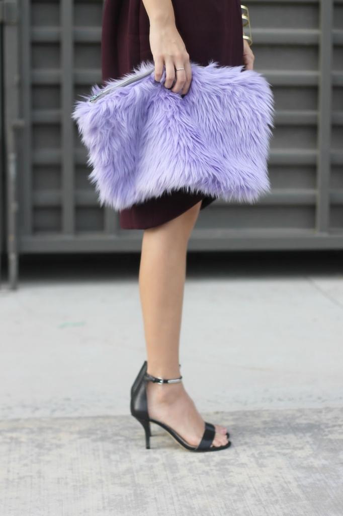 ifchic, trench coat, faux fur clutch, burgundy, fall