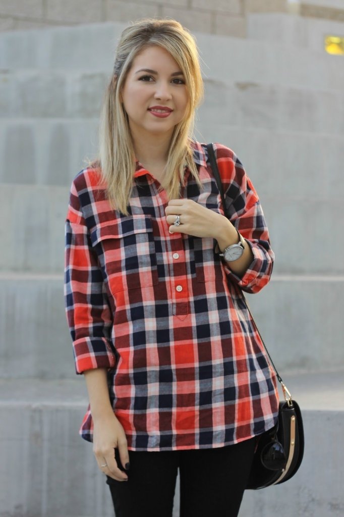 Boyfriend plaid, old navy, skinny jeans, fall outfit