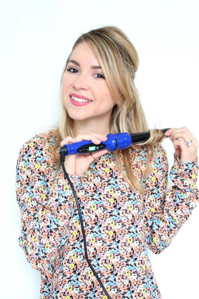 Irresistible me, hair tutorial, waves, curling wand