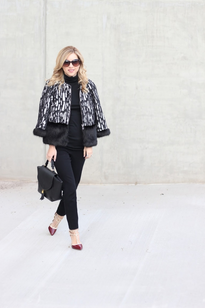 fur coat | french connection | style watch | holiday style | simply sutter