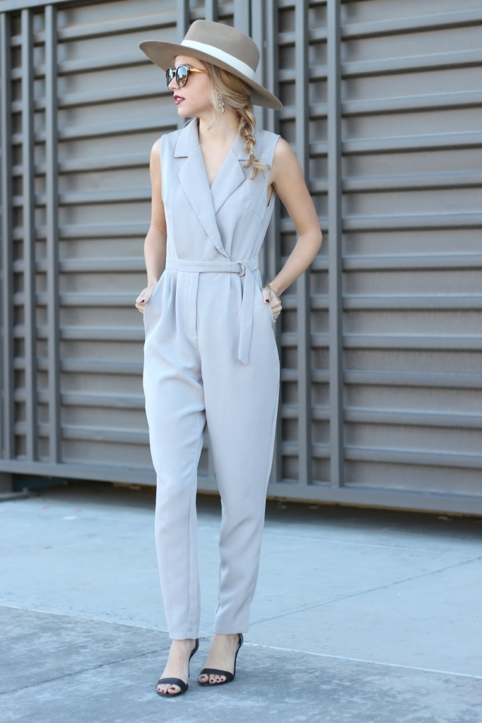 jumpsuit, missguided jumpsuit, grey jumpsuit, petite, simply sutter