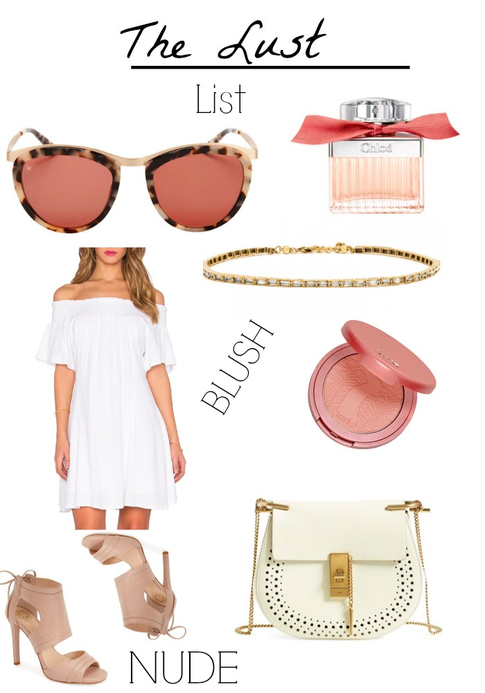 The Lust List, Collage, blush, nude, outfit
