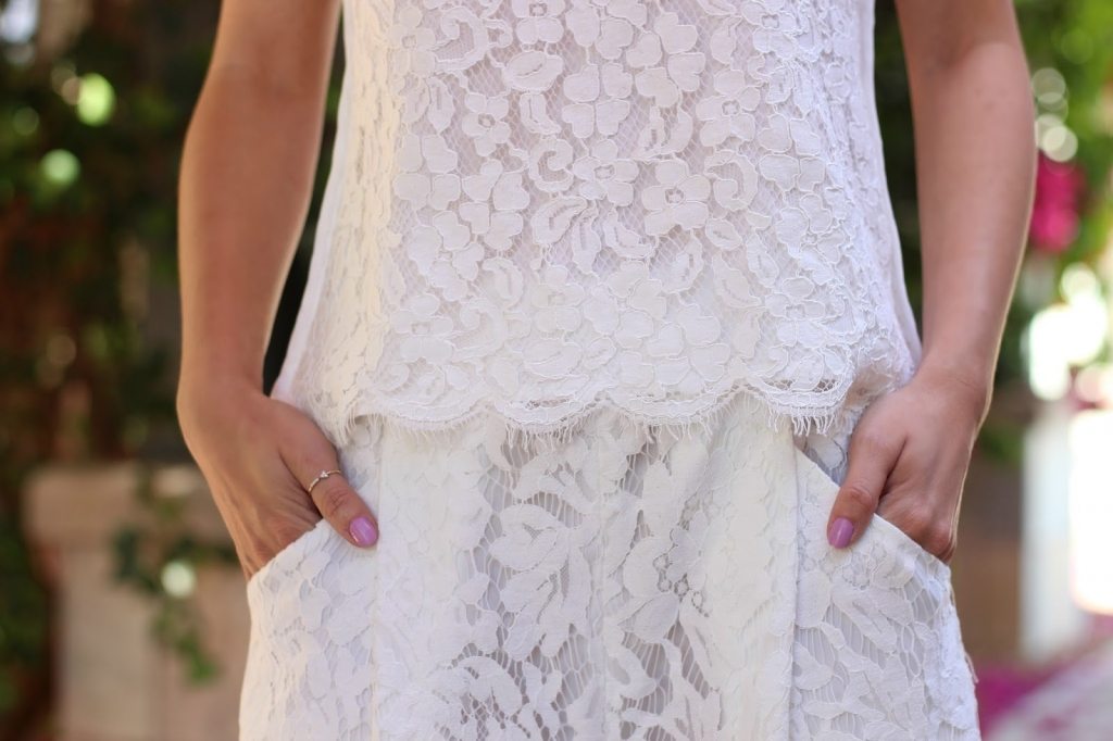 lace outfit pockets