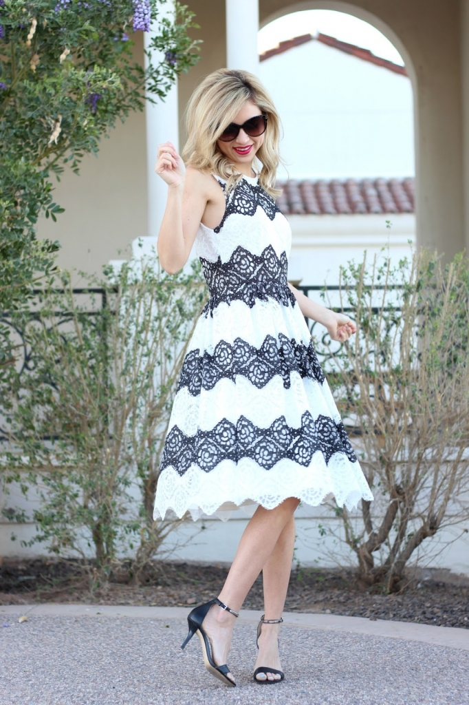 Maggy London, London Times, Stripe Lace Dress, Outfit