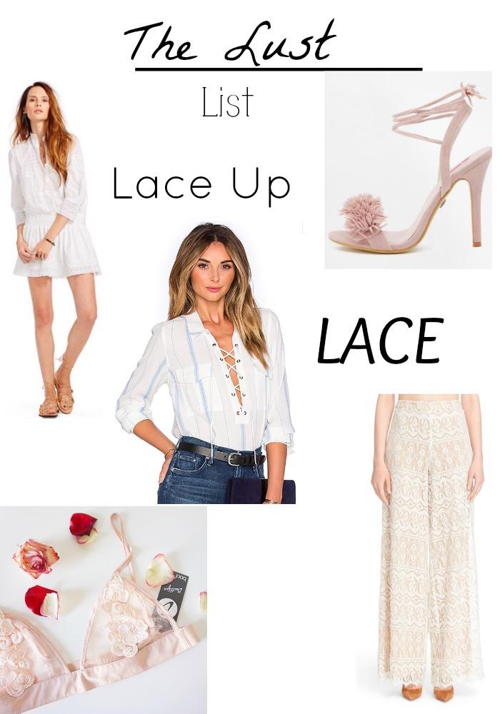 lace, lace up , lust list