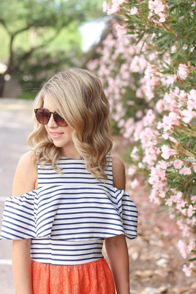 stripe street style, fashion blogger