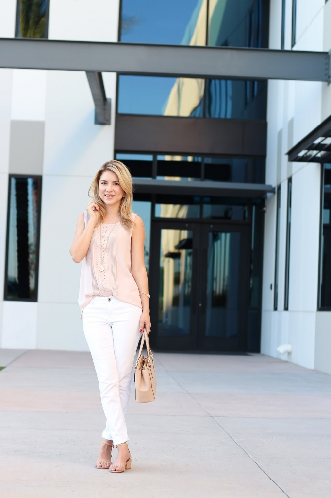 pink ann taylor outfit, summer look