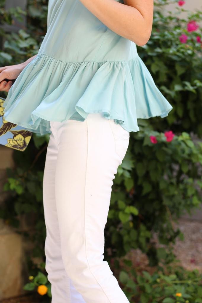 ruffle top, summer style