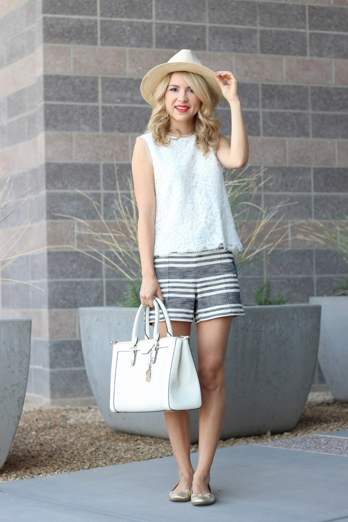 mix prints, style, stripes, lace