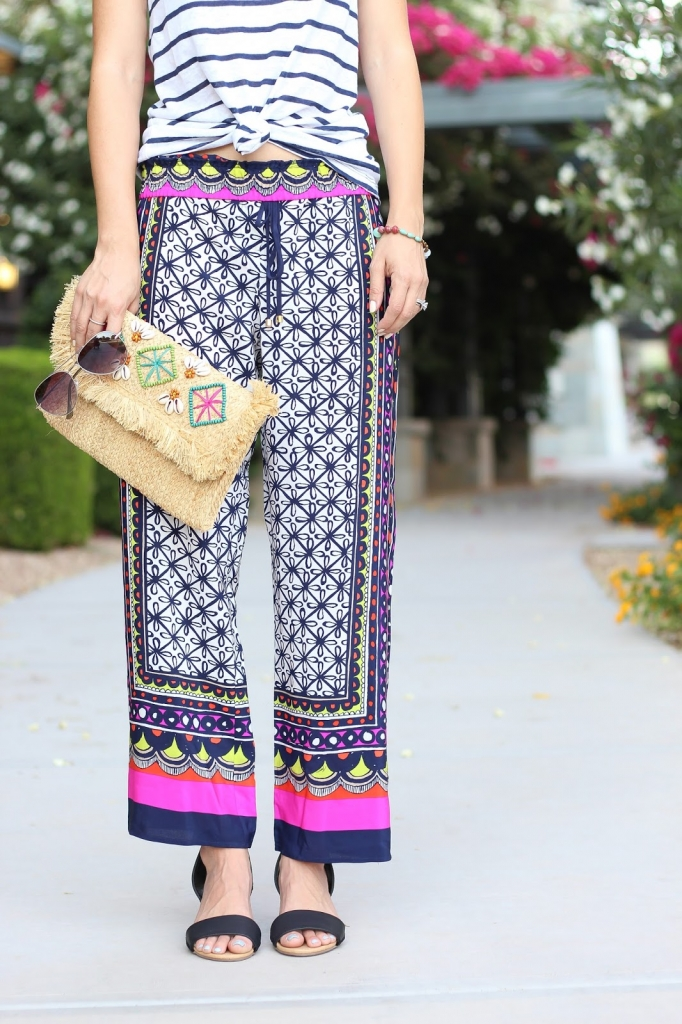 printed crop pants, summer style