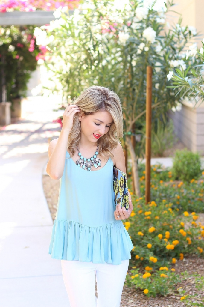 old navy swing top, blue cami