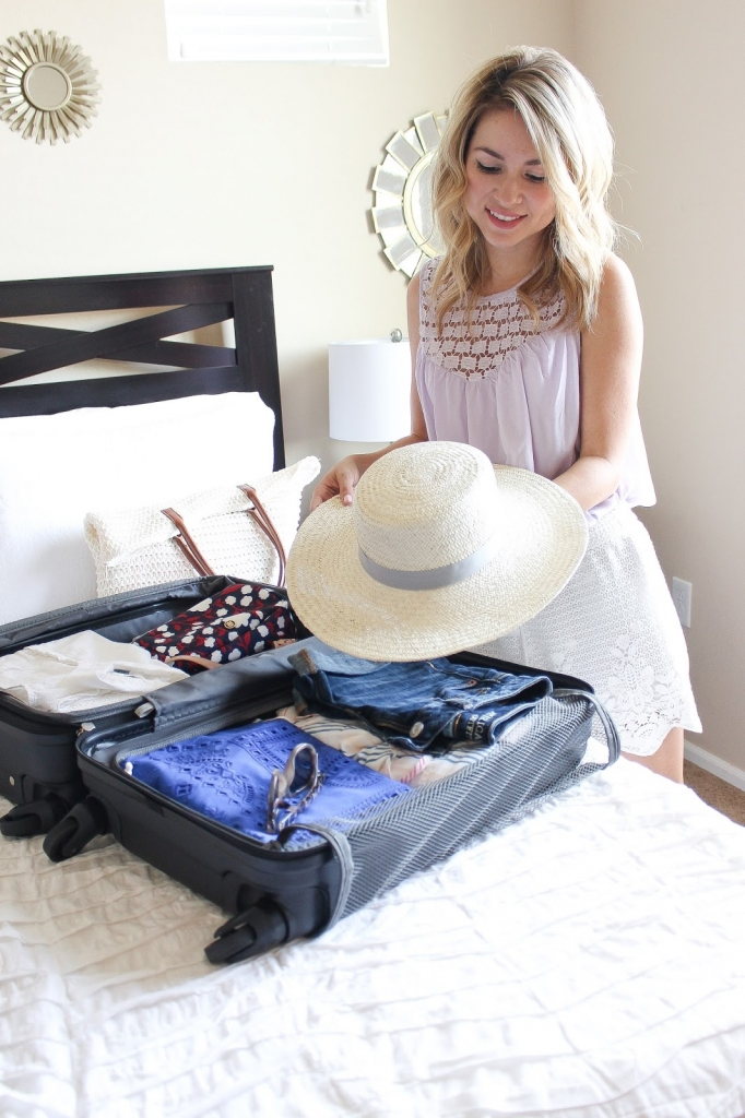 packing for summer, hats, swimwear