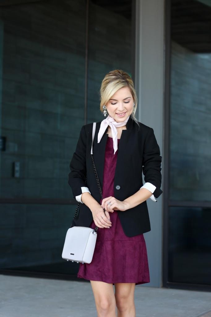 fashion blogger - style - dress - black blazer