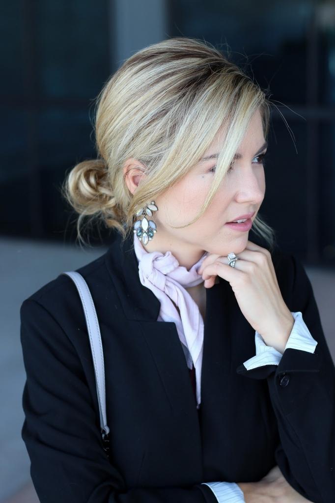 neckerchief - scarf - statement earrings - fashion