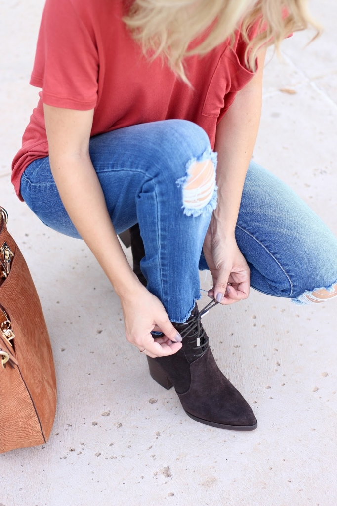 Boots - footwear - fall outfit - brown boots
