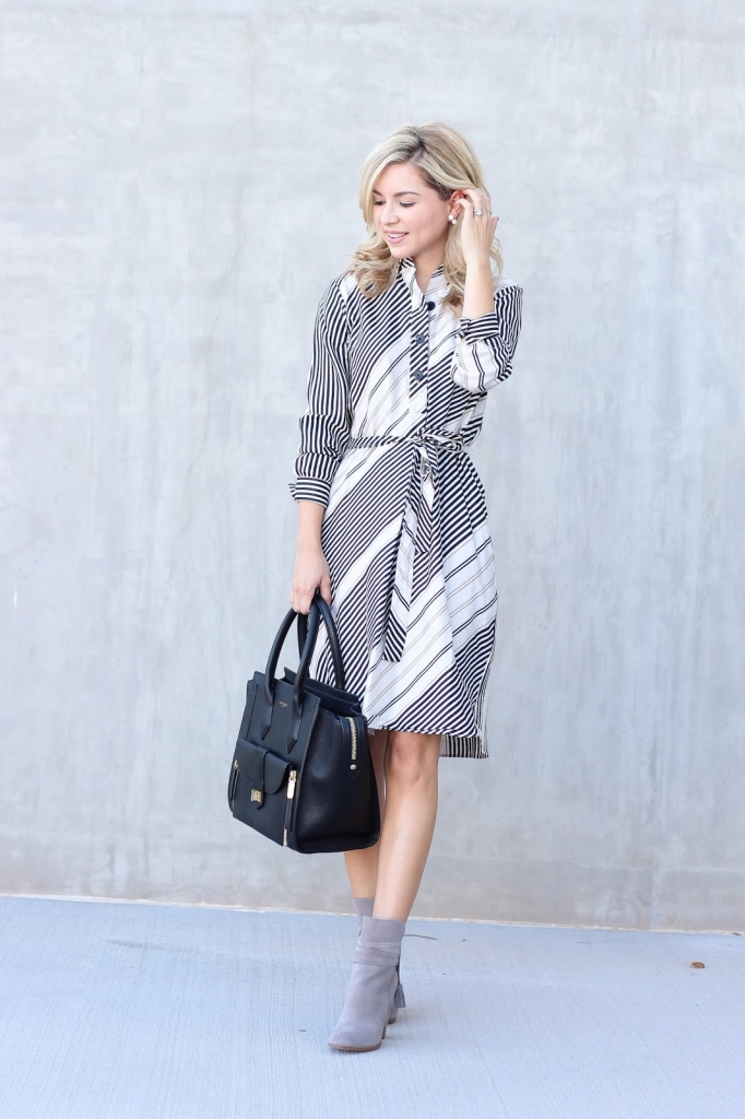 Style - stripe dress - shirt dress
