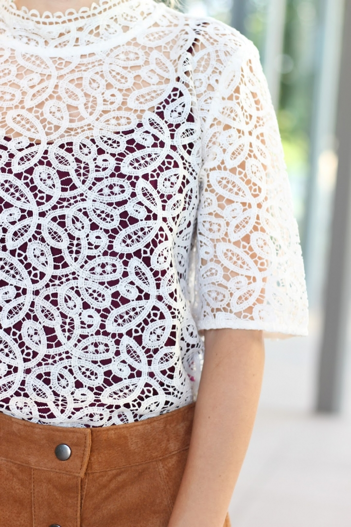 casual fall style, style, lace top outfit