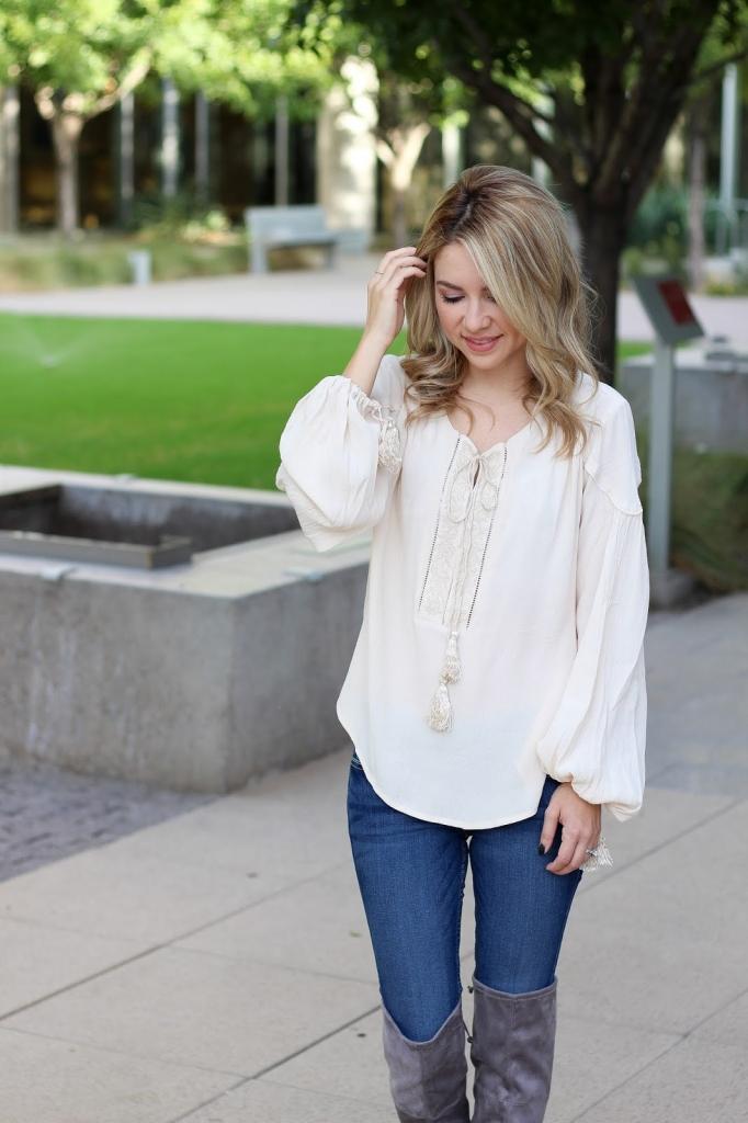 ASTR blouse - tassel top - Nordstrom blouse