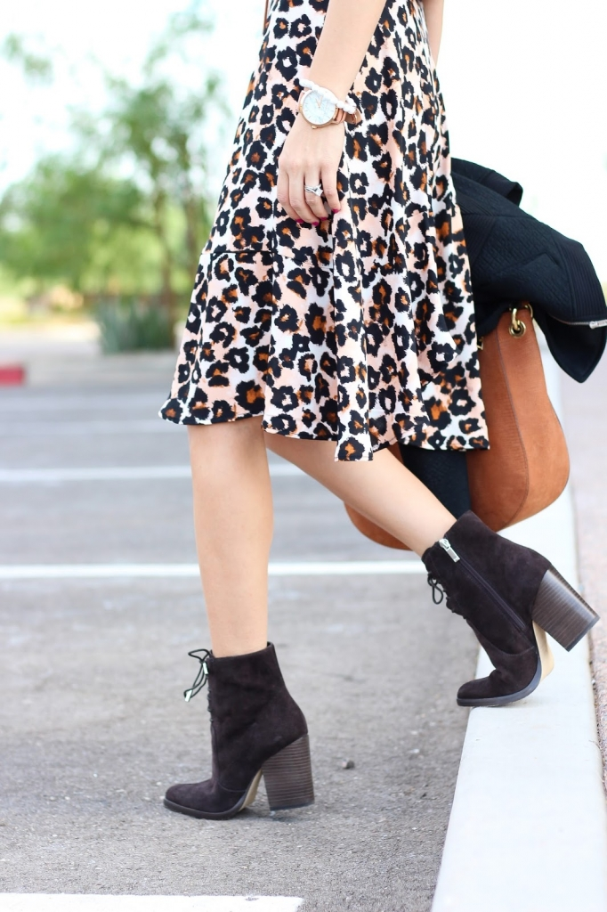 style - leopard - brown boots - ankle boots