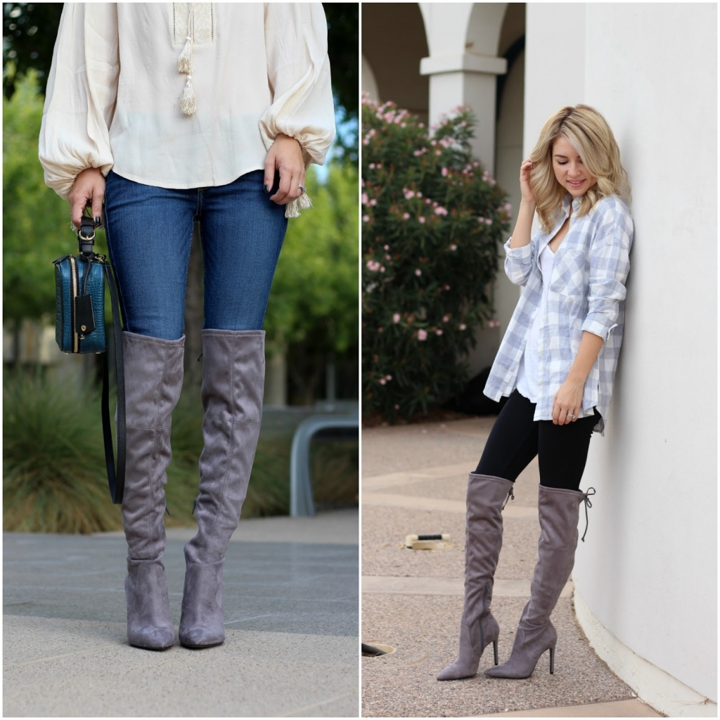 over the knee boots - ankle boots - leather boots - suede boots