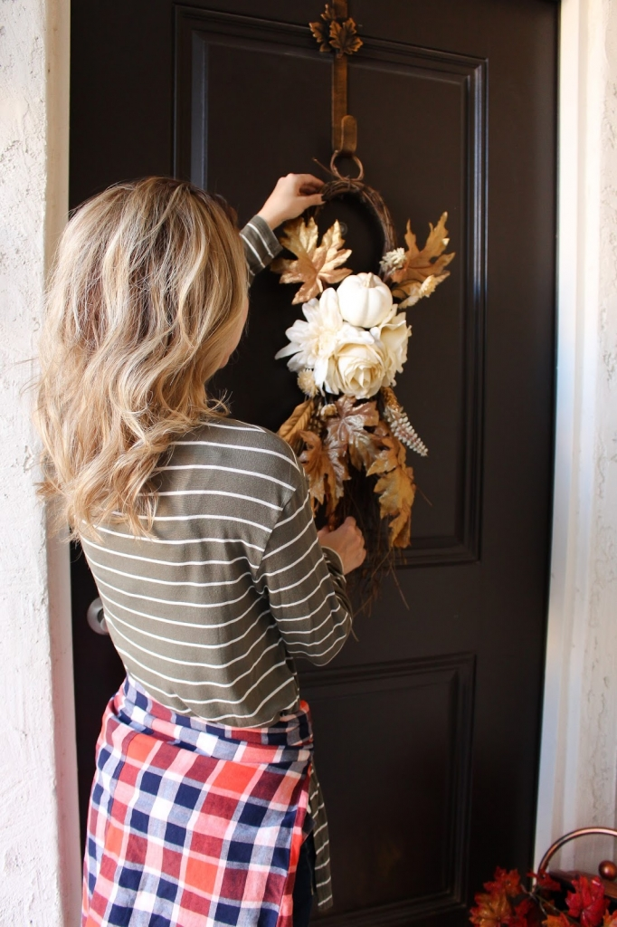 front door decor - fall inspiration -