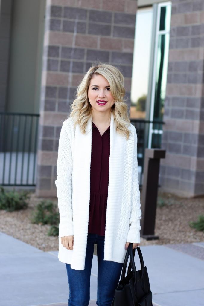 cardigan - shawl cardigan - loft cardigan - fall outfit
