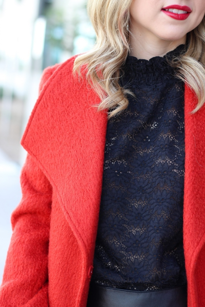 christmas outfit - holiday - red coat - blogger outfit - street style