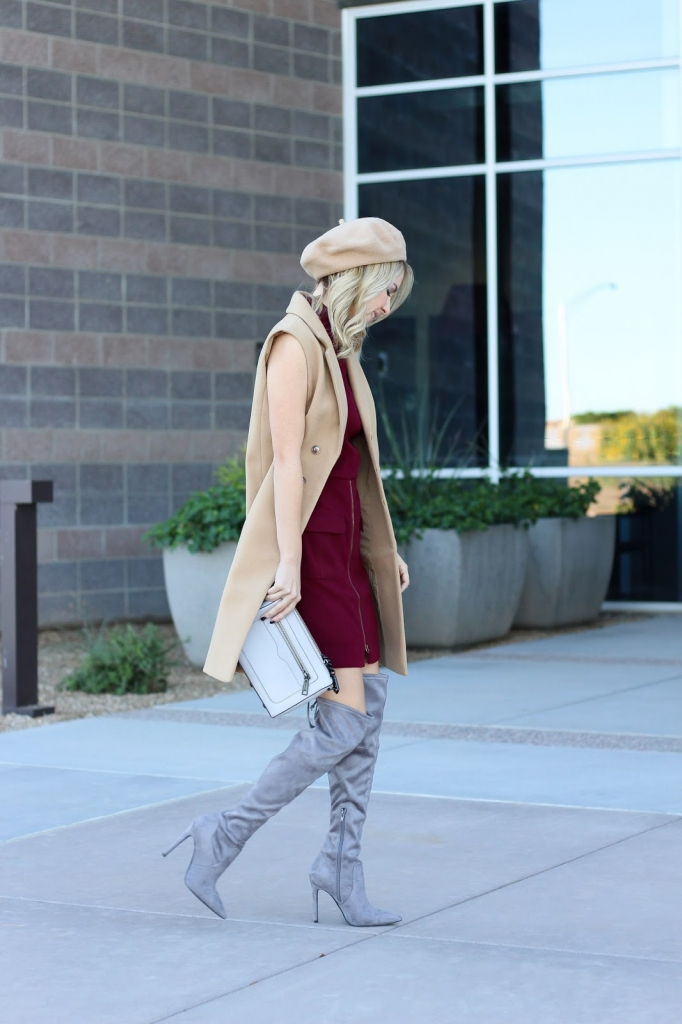 chic outfit - sleeveless coat - dress outfit - parisian style - style