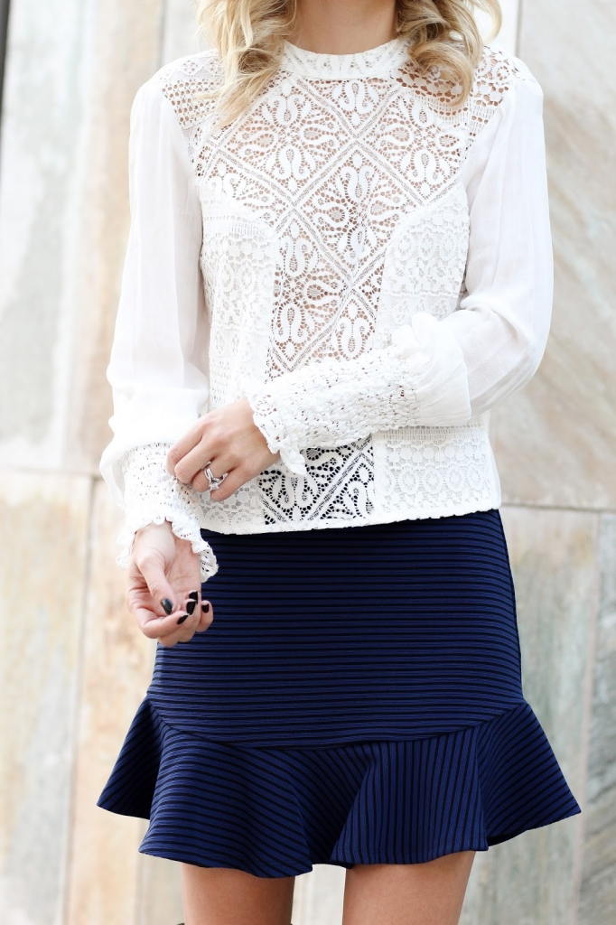 lace top - band of gypsies - bcbg skirt - lace - designer - street style look