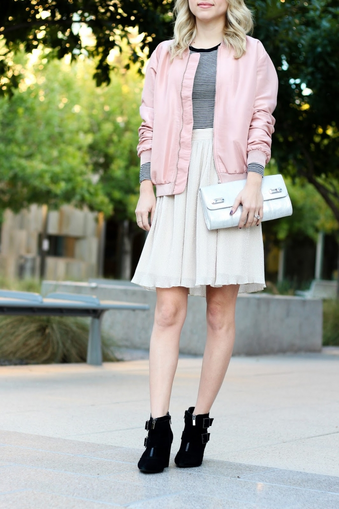 bomber jacket - pink bomber jacket - how to wear the bomber jacket - style - simply sutter - style