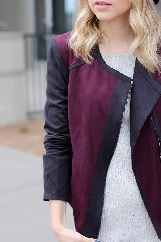 jessica simpson jacket - two toned jacket - style