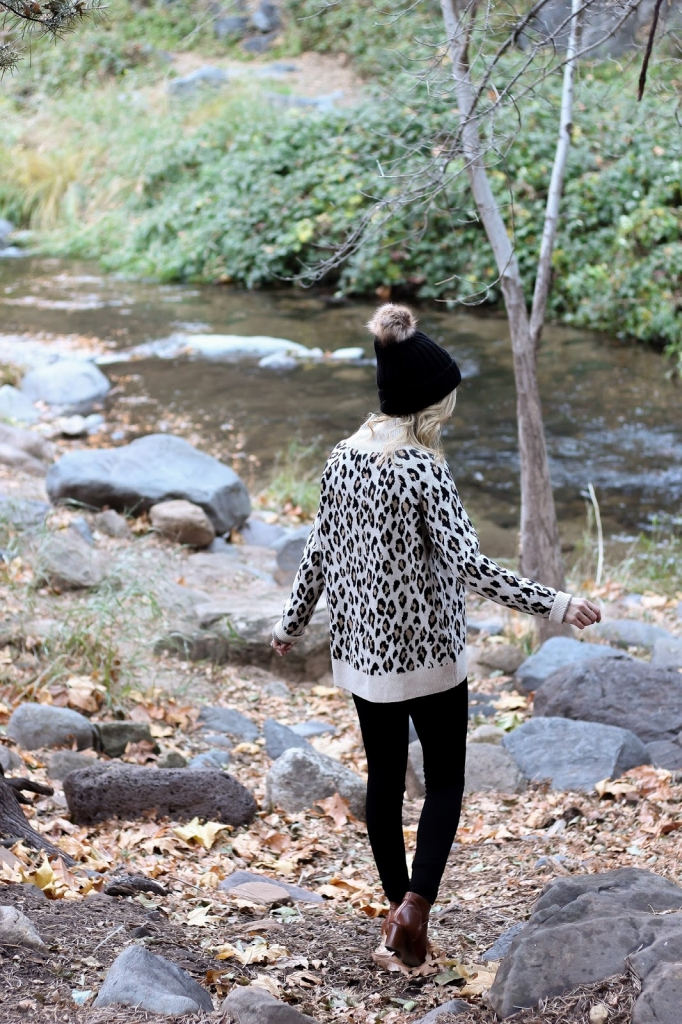 loft sweater - leopard - beanie - style - personal style - simple