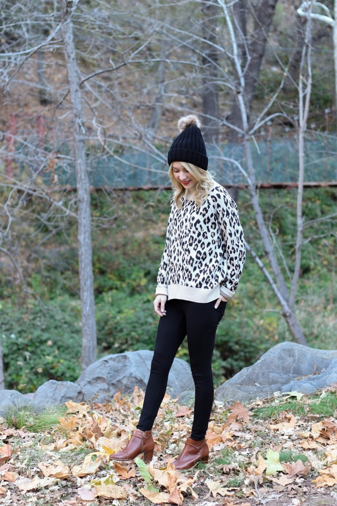 casual style - leopard outfit - leggings style - loft leggings