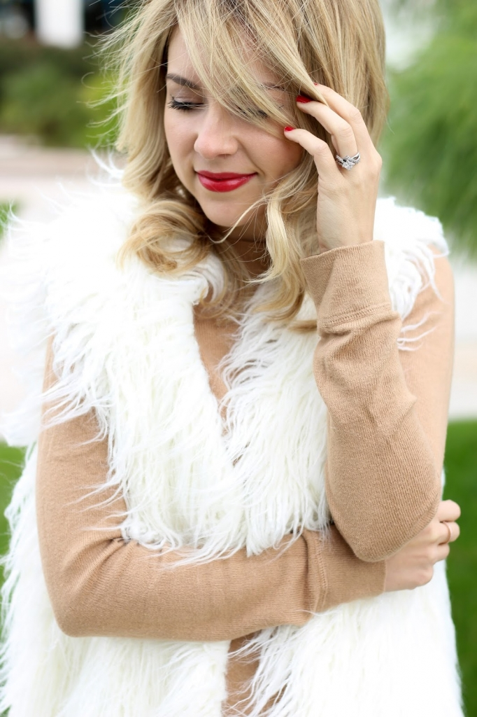 faux fur - shaggy vest - winter style - accessories - style