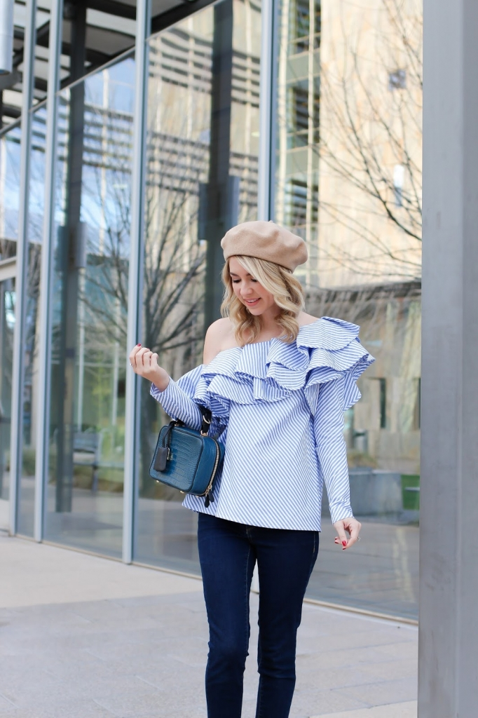ruffle one sleeve blouse - statement - style - fashion - personal style