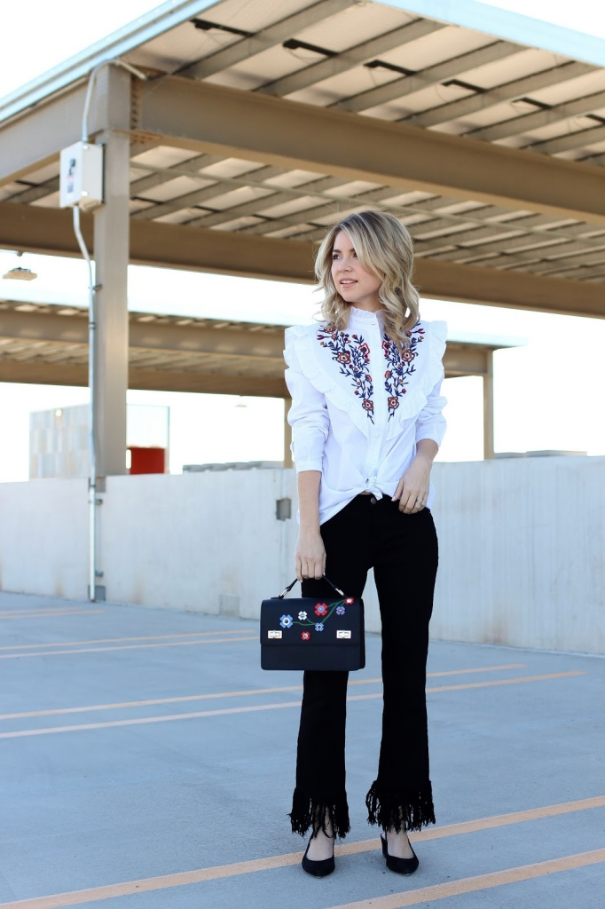 spring fashion - floral - fringe - embroidered - simply sutter
