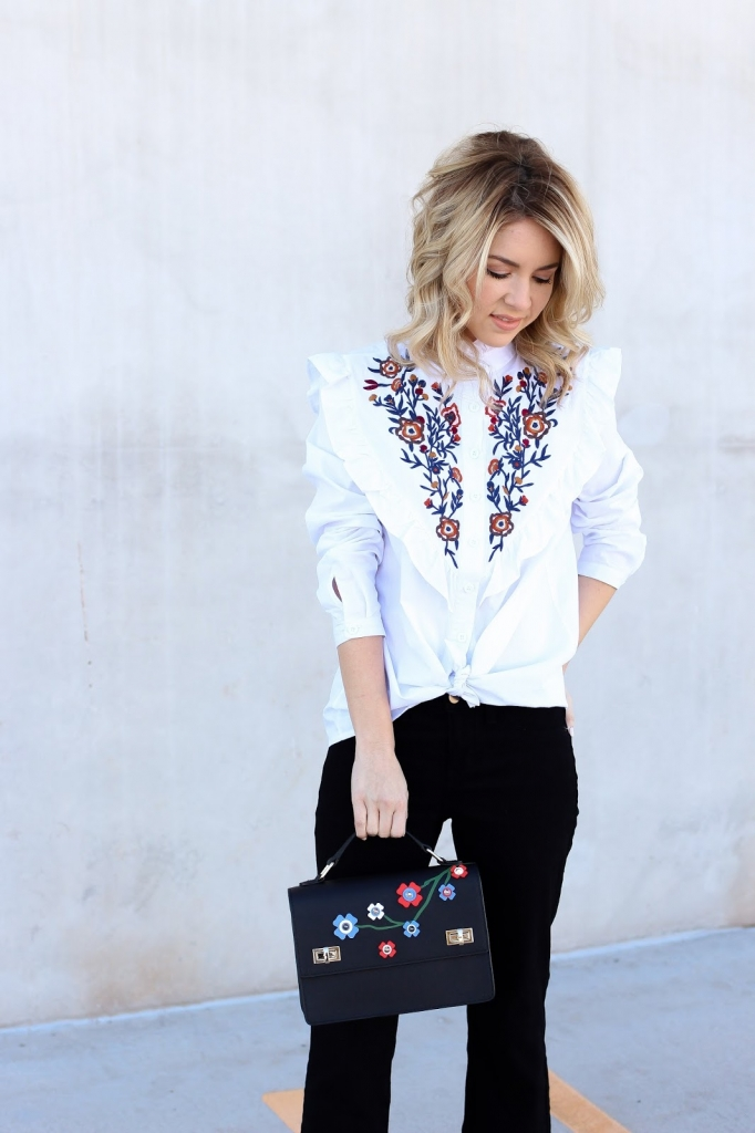 simply sutter - casual wear - chic style - statement top - embroidered top