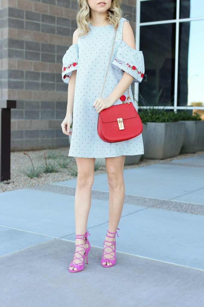 blogger - fashion - casual style - pink heel outfit -