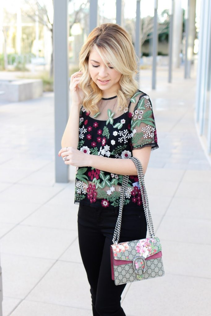 monic sutter - simply sutter - embroidered top - dillards - floral top