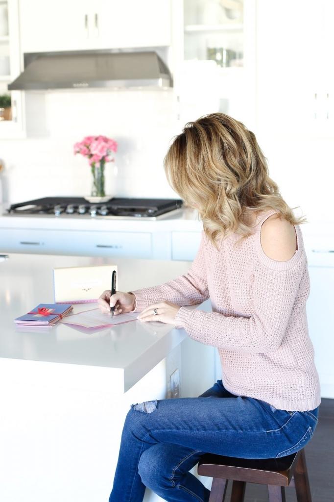 denim outfit - pink sweater - cold shoulder sweater - hem denim - francescas